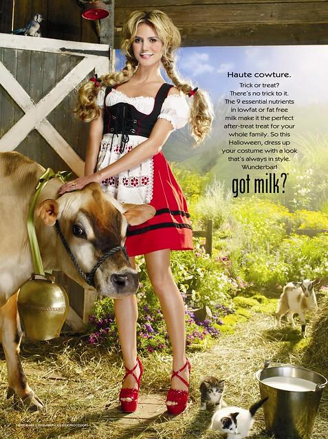 Heidi Klum got milk? Ad