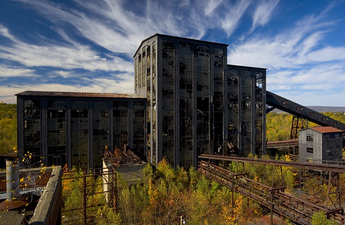 autumn view pennsylvania ashley urbanexploration abandonment colliery wilkesbarre urbex coalbreaker coalcountry ashleycoalbreaker hubercolliery