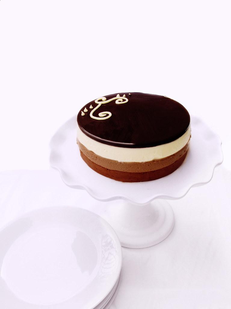 Trio of Chocolate Mousse Cake