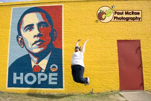 Leapin' for Obama