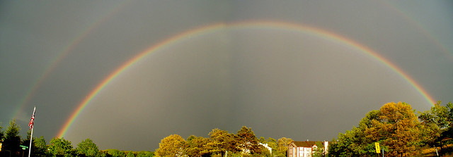 Double Rainbow Panoramic View