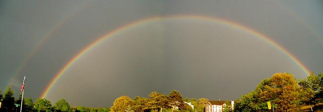 Double Rainbow Panoramic View
