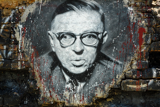 Jean-Paul Sartre, painted portrait - DDC_7519.jpg