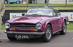 automobile, vehicle, antique car, classic car, land vehicle, triumph tr6, convertible, sports car,