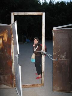 Lotta in an open door