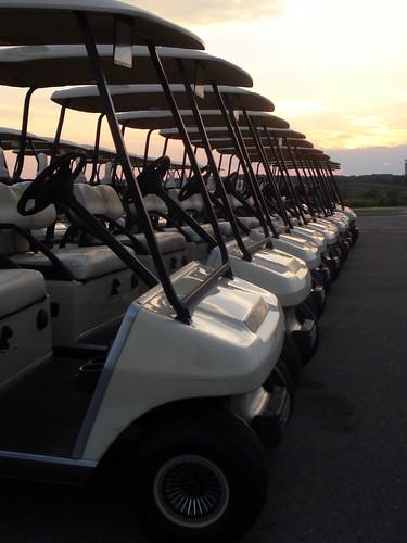 wedding sunset golf