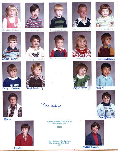 Norris School District: Norris Elementary School - Pre-School 1978 -1979