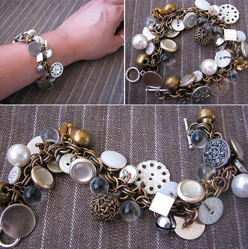 Gypsy button bracelet regina lord of creative kismet for Buttons with shanks for jewelry