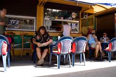 Parroquianos desayunando, Trogir