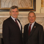 Michael Bloomberg and Gordon Brown