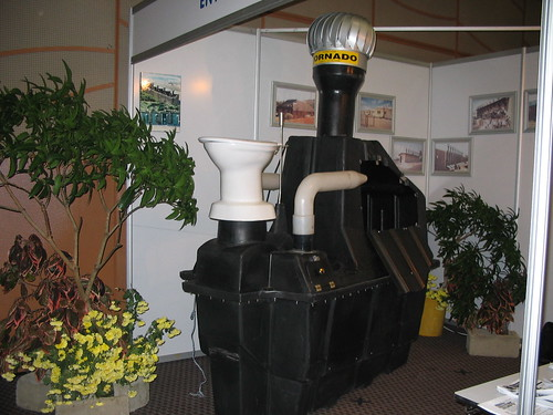 Enviro Loo (composting toilet), South Africa, at exhibition