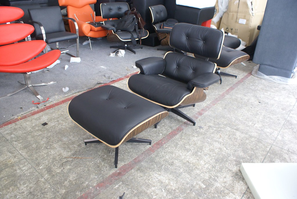 Groovy Icon Eames Style Lounge Chair And Ottoman Ebony Wood Bla Beatyapartments Chair Design Images Beatyapartmentscom