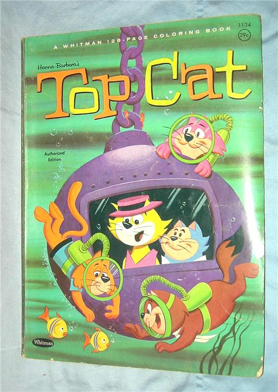 Top Cat Punch Out Book Hb Topcat Coloring
