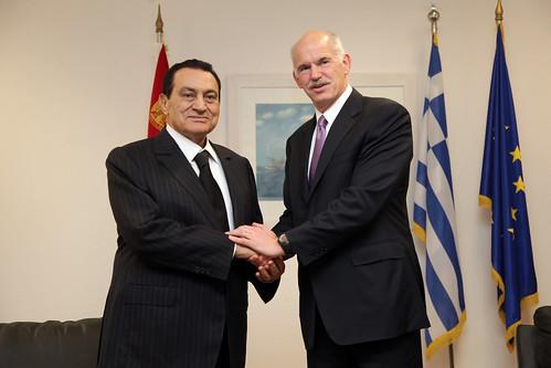 Συνάντηση με τον Πρόεδρο της Αραβικής Δημοκρατίας της Αιγύπτου, Μοhamed Hosny Mubarak