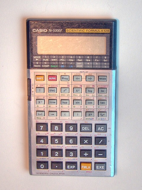 Casio fx-5000F   mein programmierbarer Taschenrechner von ...