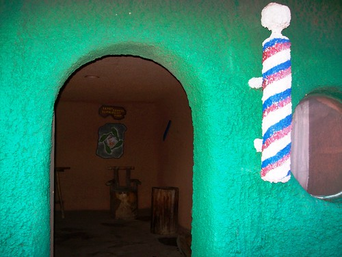 Peek inside the barber shop at Bedrock City, AZ - bedrock17x