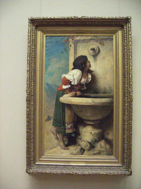 Roman Girl At A Fountain By Leon Bonnat Flickr Photo
