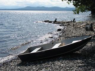 Lake Champlain shoreline at the Inn at Shelburne Farms, Vermont