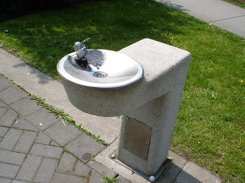 Water fountain on Granville Island
