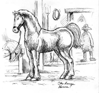 medieval war horse drawings