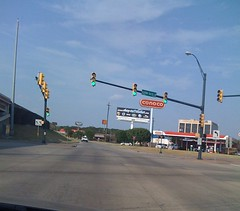 At a traffic light