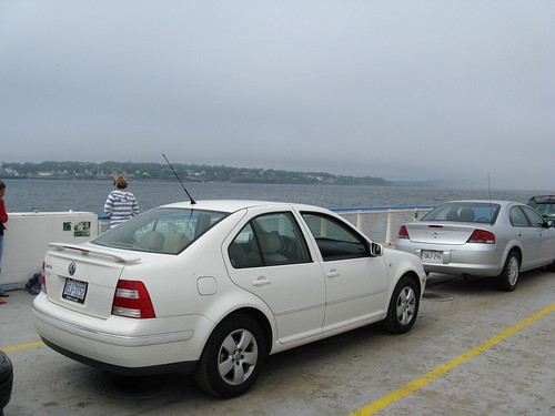 the Jetta on the Deer Island Ferry