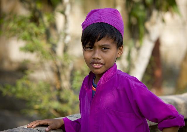 Boy in a madrassa, Madura island, Java, Indonesia
