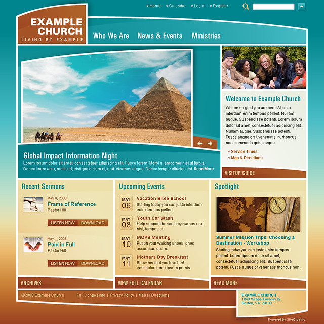 Example Church (Curve Appeal) - Home Page