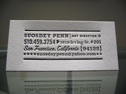 Unique Retro Letterpress Business Card