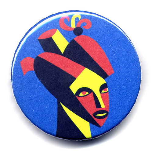 Turban woman portrait- new button