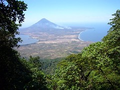 View of one volcano on island of Ometepe from high on the other