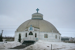 building, winter, snow, place of worship, chapel, dome,