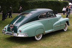 automobile, automotive exterior, vehicle, chevrolet fleetline, antique car, sedan, classic car, vintage car, land vehicle,