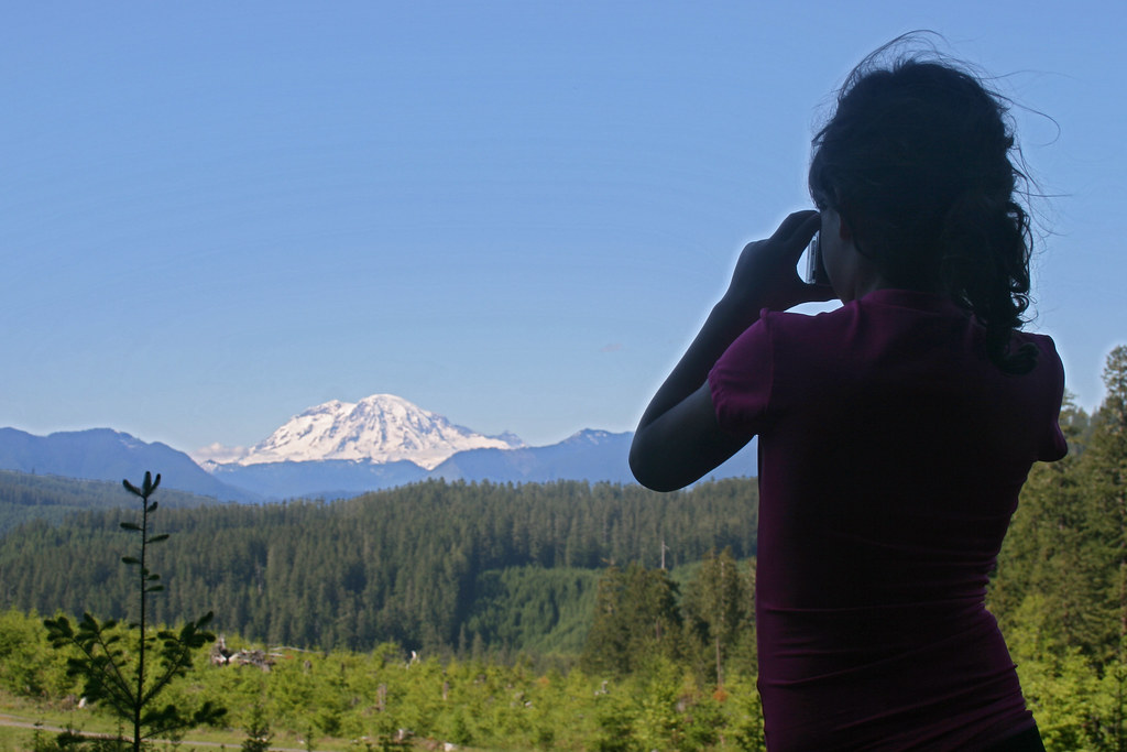 photographing ranier