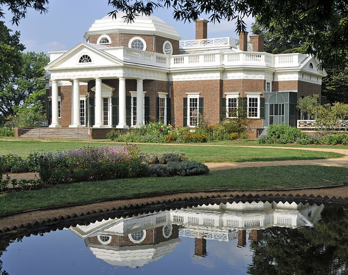 Jefferson's Monticello (Pond Reflection)