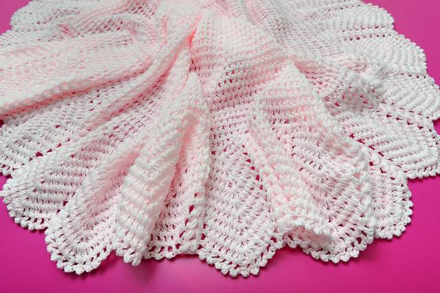 Crochet Pattern For Small Shawl : Beautiful Hand Crochet 3 Ply Pale Pink Babies Shawl ...