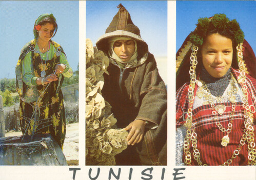 tunisia costume card