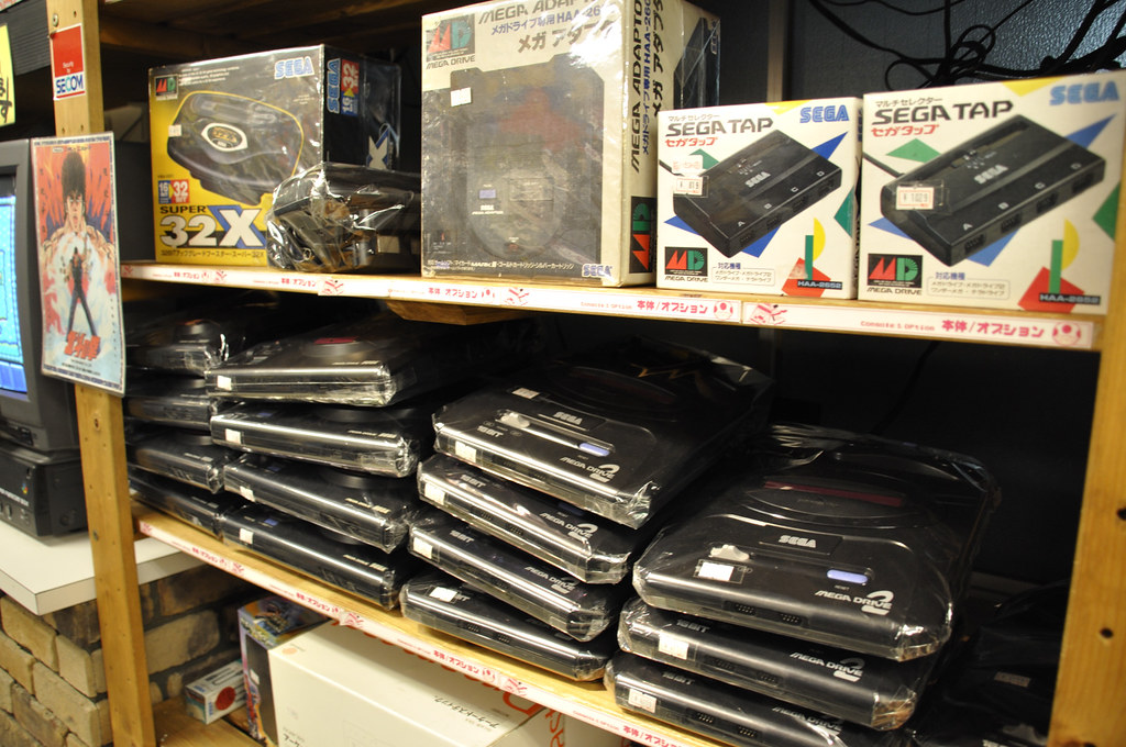 Sega Megadrives (Genesis) at Super Potato in Akihabara