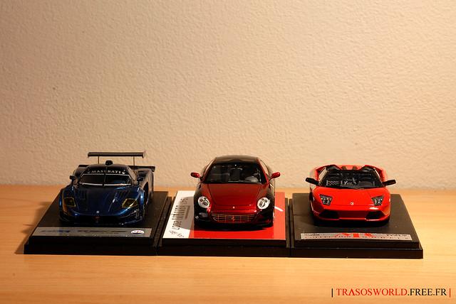 My babies (Ferrari 612 Sessanta, Maserati MC12 Corsa and LP640 Roadster)