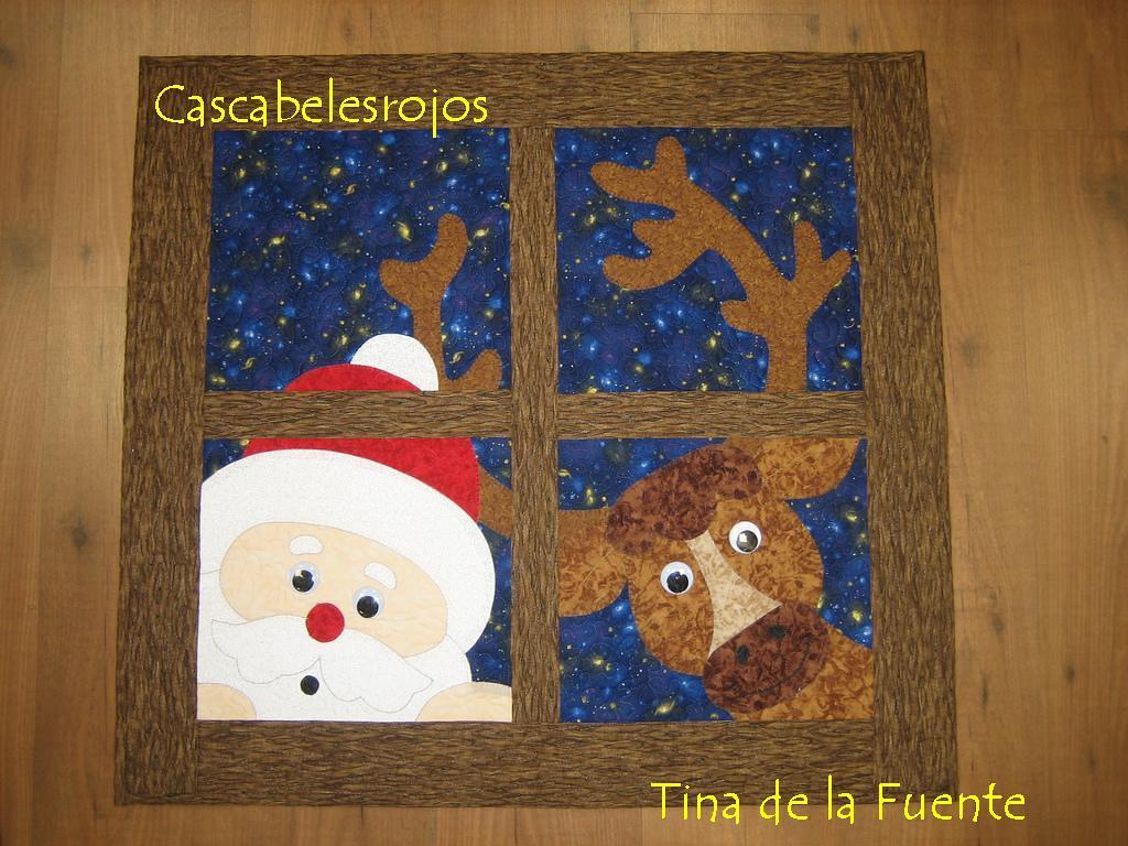 Panel de Papá Noel y reno
