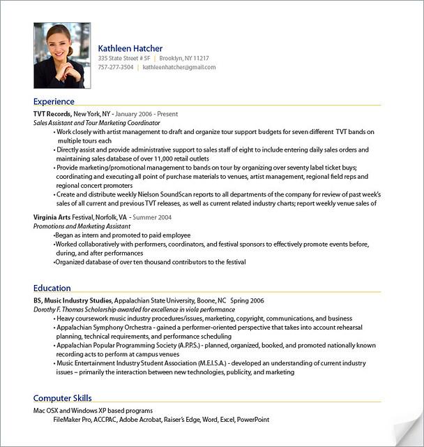 resume sle flickr photo