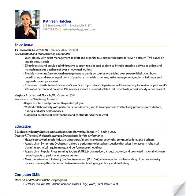 An Example Of A Really Good Resume An Example Of A Very Good ...