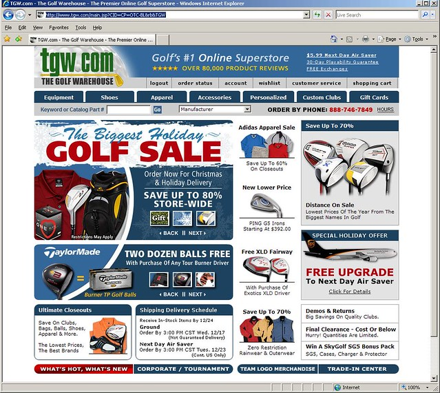 Coupon the golf warehouse tgw
