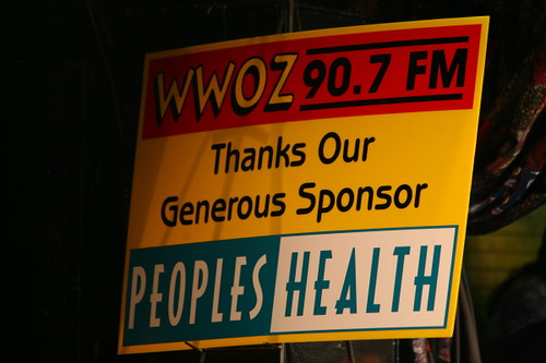 Thanks to our Piano Night 2010 sponsor Peoples Health! (Photo by Jef Jaisun)