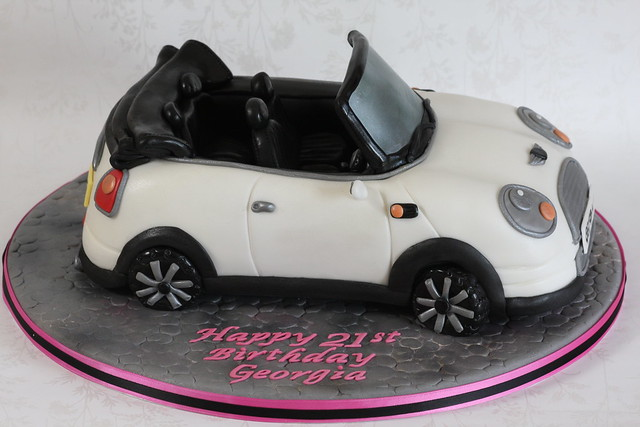 Convertible Mini Car Cake Flickr Photo Sharing