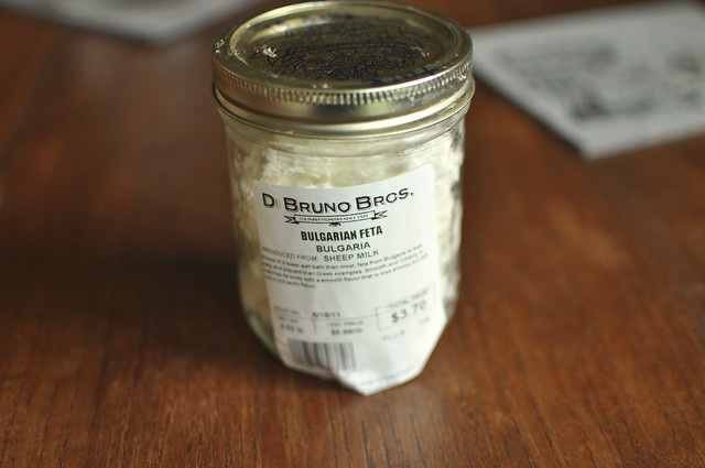 jar of feta cheese