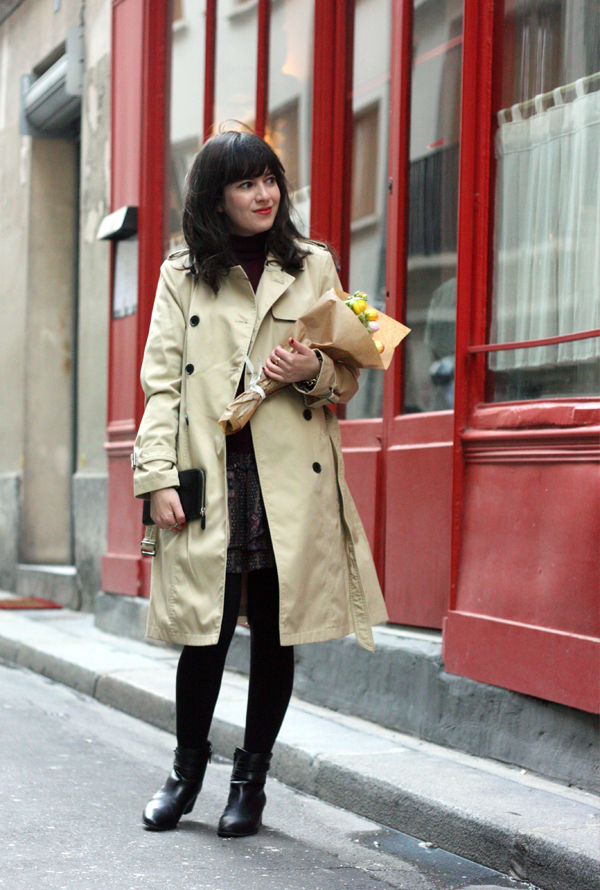 trench coat ,פריז, מעיל טרנץ', בלוג אופנה