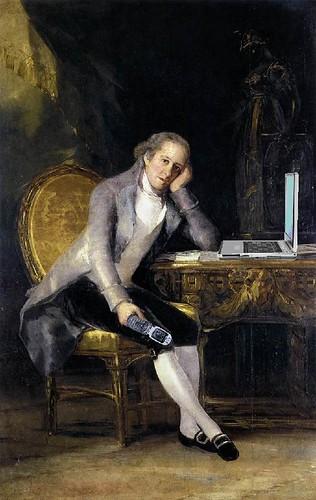 Gaspar Melchor de Jovellanos Blogging, after Franciso de Goya y Lucientes