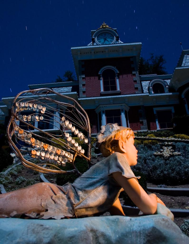 Neverland Train Station Sculpture