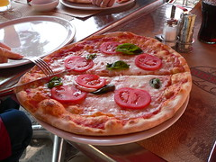 The pizza that we had for lunch during our walking tour of Venice.